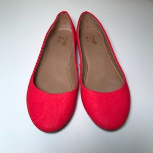 Red Ballet Flats Mix No. 6 Size 9.5